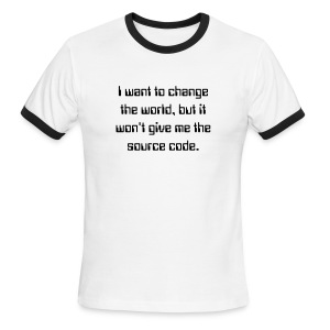 Change the world - Men's Ringer T-Shirt