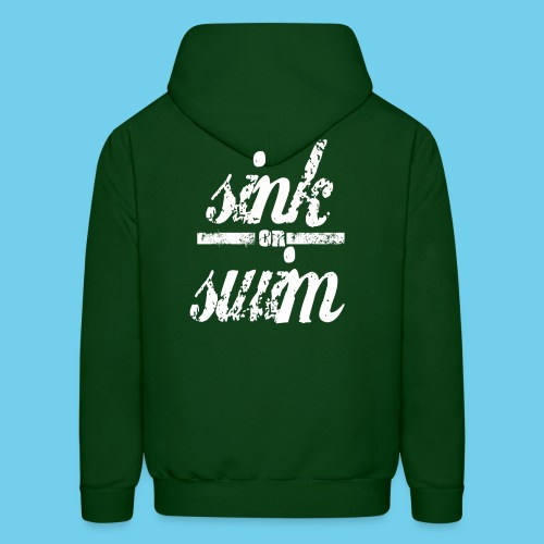 Sink or Swim Vintage- Front Logo, Rear Design- Youth Tee - Men's Hoodie