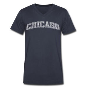 Chicago Distressed Chi - Men's V-Neck T-Shirt by Canvas