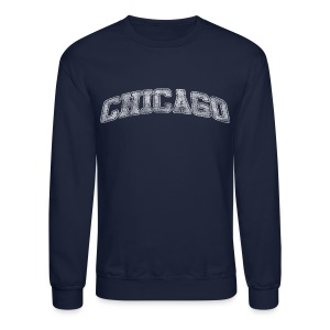 Chicago Distressed Chi - Crewneck Sweatshirt
