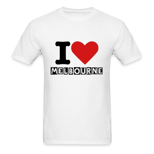 I Love Melbourne T-Shirt - Men's T-Shirt