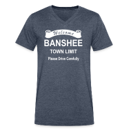 T-Shirts ~ Men's V-Neck T-Shirt by Canvas ~ Banshee roadsign