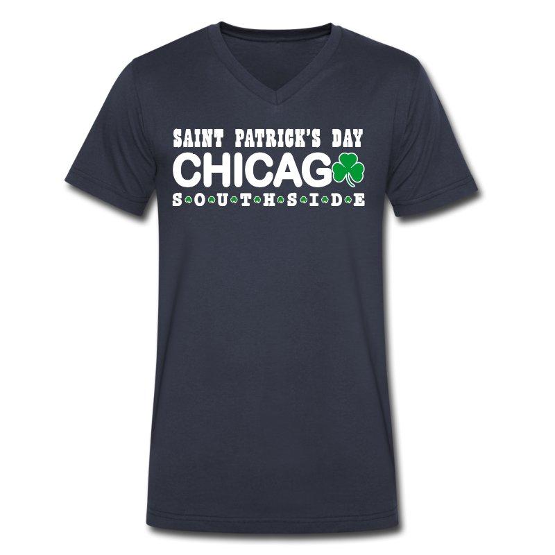 Chicago St. Patrick's Southside - Men's V-Neck T-Shirt by Canvas