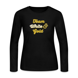 Blue & Black or White & Gold - Women's Long Sleeve Jersey T-Shirt