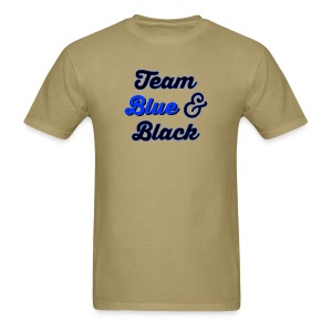 Blue & Black or White & Gold - Men's T-Shirt