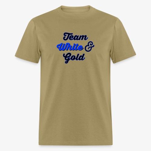 Blue & Black or White & Gold - Men's T-Shirt