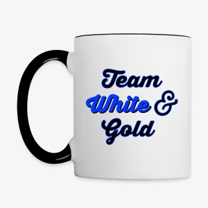 Blue & Black or White & Gold - Contrast Coffee Mug
