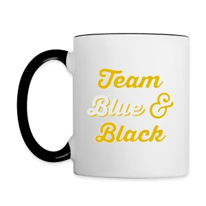 Blue & Black or White & Gold - Contrast Coffee Mug