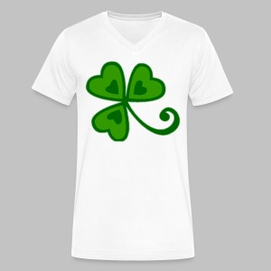 Shamrock Arty Ire mkp - Men's V-Neck T-Shirt by Canvas
