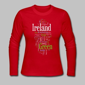 Ireland Words - Women's Long Sleeve Jersey T-Shirt