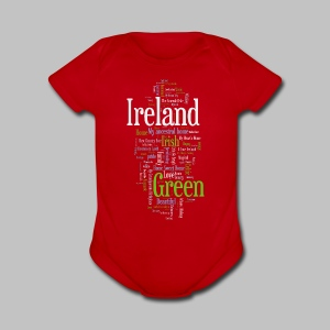 Ireland Words - Short Sleeve Baby Bodysuit