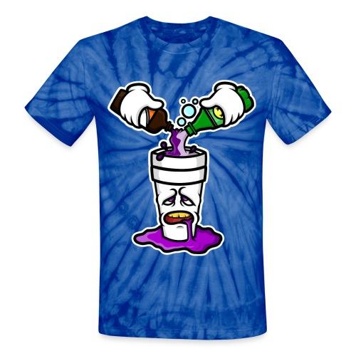'Lean Head' T-shirt - Unisex Tie Dye T-Shirt