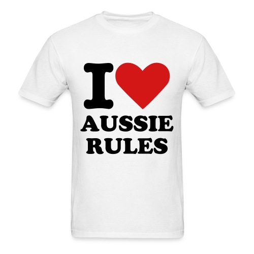 I Love Aussie Rules T-Shirt - Men's T-Shirt