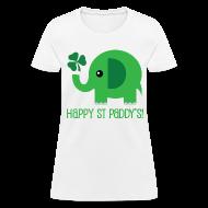 Women's T-Shirts ~ Women's T-Shirt ~ Irish St Paddys Day Womens T-shirt (Funny Elephant)