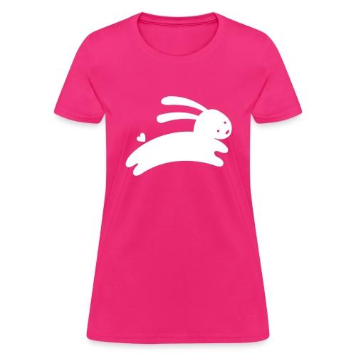 Bunny Hop Heart Tail Tee - Women's T-Shirt