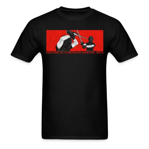 Fencers on red (men) - Men's T-Shirt