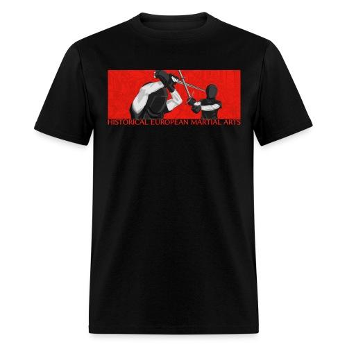 Fencers on red (men) - Men's T-Shirt