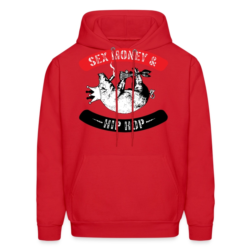 Sex, Money & Hip-Hop (Red) - Men's Hoodie