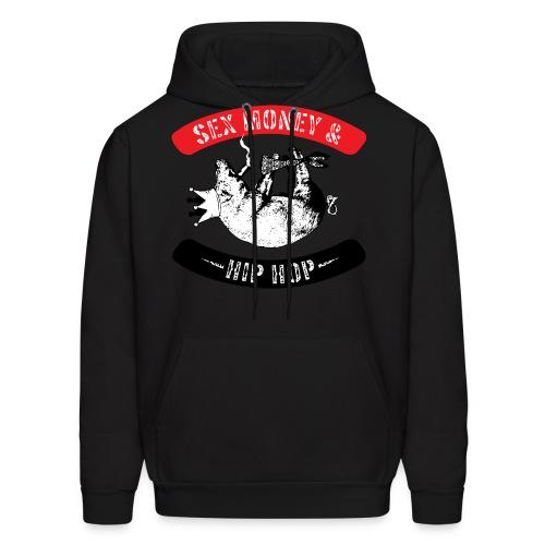 Sex, Money & Hip-Hop (Black) - Men's Hoodie