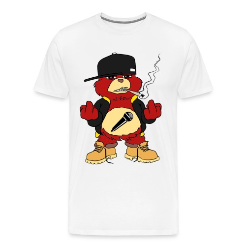 Unisex Full-Colour Mr. Doh Care/Bear Tee (Light) - Men's Premium T-Shirt