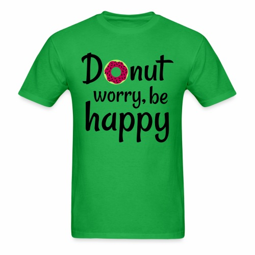 Donut worry, be happy - Men's T-Shirt