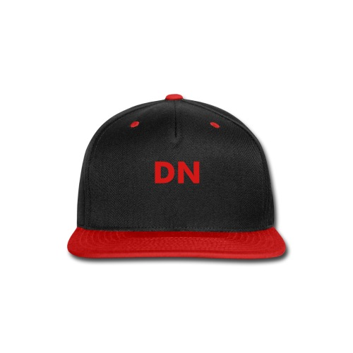 DN Snap-back Baseball Cap - Red - Snap-back Baseball Cap
