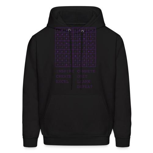 IceCold Crossword Purple - Men's Hoodie