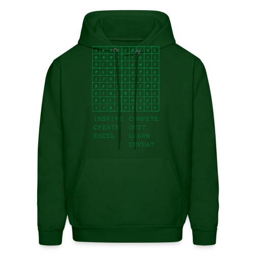 IceCold Crossword Green - Men's Hoodie