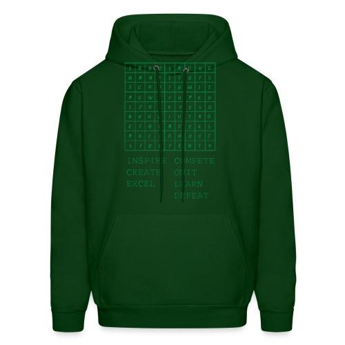 IceCold Crossword Green - Men's Hoodie