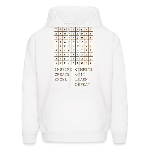 IceCold Crossword Brown - Men's Hoodie