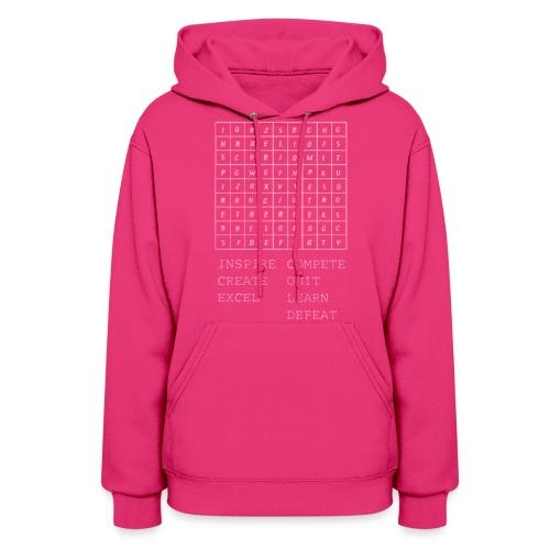 IceCold Crossword Pink - Women's Hoodie