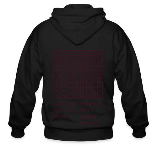 IceCold Crossword Maroon - Men's Zip Hoodie