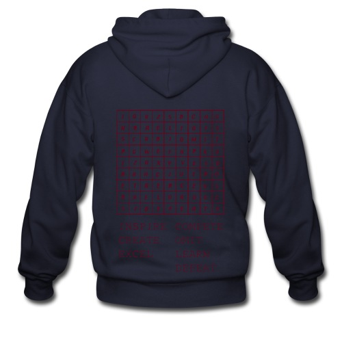 IceCold Crossword Maroon - Men's Zip Hoodie