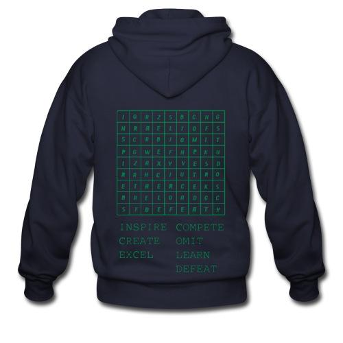 IceCold Crossword Green - Men's Zip Hoodie