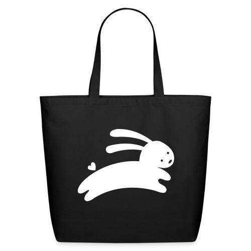 White Bunny Tote - Eco-Friendly Cotton Tote