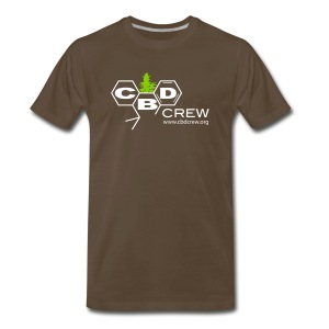 CBD Crew Men's One Color Logo T-Shirts - Men's Premium T-Shirt
