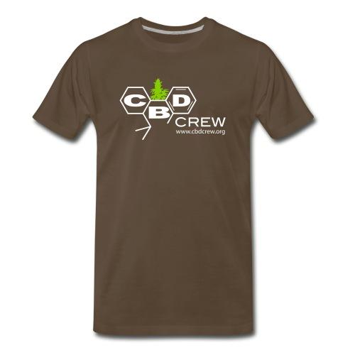CBD Crew Men's One Color Logo T-Shirts - Men's Premium T-Shirt