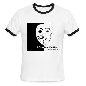 #freeMattDeHart - Men's Ringer T-Shirt