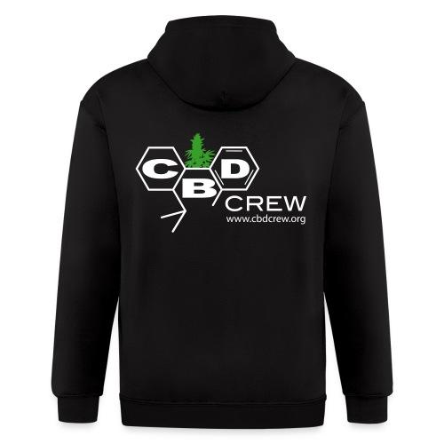 CBD Crew Men's ZipUp Hoodie - Men's Zip Hoodie