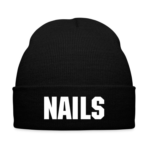 Nails Beenie - Knit Cap with Cuff Print