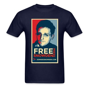 Free Snowden Free Press - Men's T-Shirt