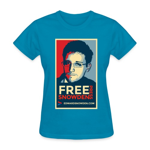Free Snowden Free Press - Women's T-Shirt