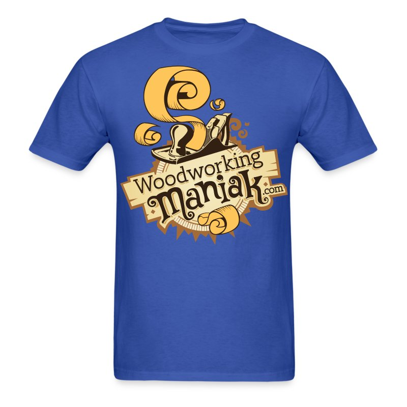WoodworkingManiak_logo-1-LARGE.png - Men's T-Shirt