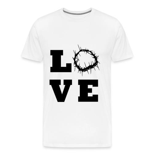 Jesus Loves Men's Tshirt - Men's Premium T-Shirt