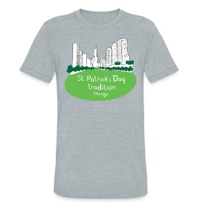 Chicago Green River - Unisex Tri-Blend T-Shirt by American Apparel