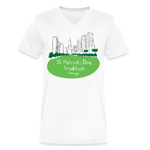 Chicago Green River - Men's V-Neck T-Shirt by Canvas