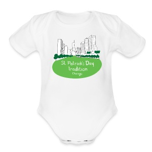 Chicago Green River - Short Sleeve Baby Bodysuit