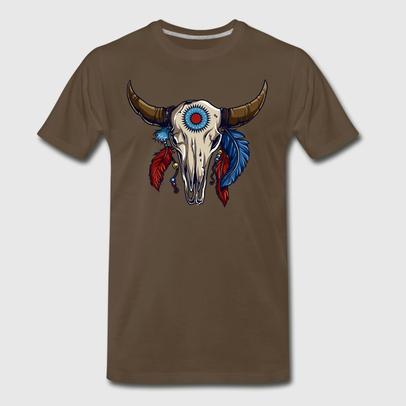 American Indian Steer Skull - Men's Premium T-Shirt