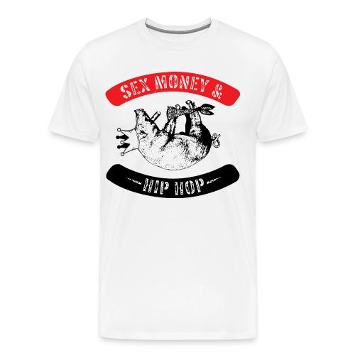 Sex, Money & Hip-Hop (White) - Men's Premium T-Shirt