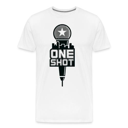 One Shot (White) - Men's Premium T-Shirt